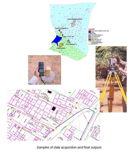 Biomass Energy for Rural India - Topographic survey and creation of GIS database for 25 villages