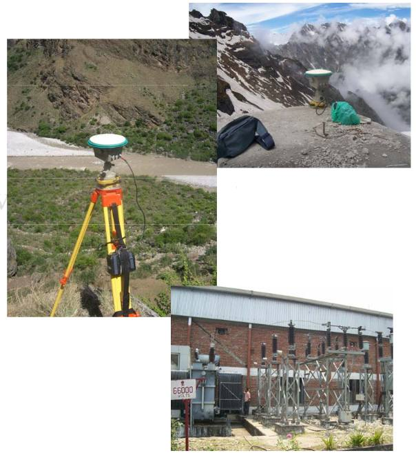 DGPS Survey for GCP establishment and high resolution image rectification for Hydro Power Potential Estimation in Uttaranchal.