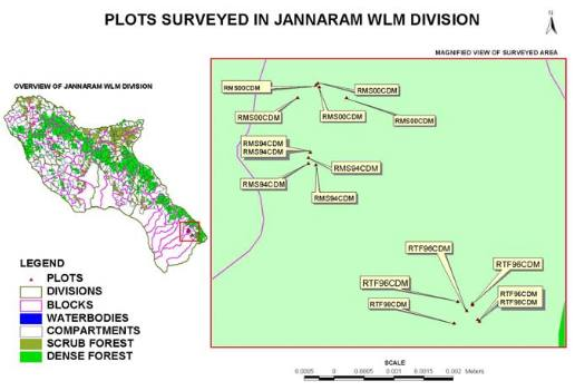 Ecological information system for Jannaram forest Division of Andhra Pradesh
