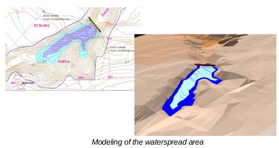 Elevation Model for Construction of Check Dam