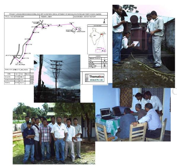 SCADA / DMS Scheme in Shillong City and Western Circle Byrnihat in Meghalaya for MeSEB and Power Grid Corporation of India Limited.